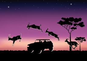 Springende Kudu vector