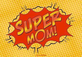 Comic Style Super Mom Illustratie vector