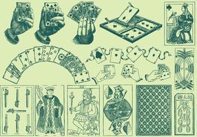 Speelkaarten Tekeningen vector