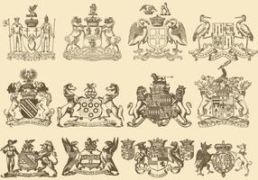 Heraldiek Met Onheilspellende Dieren