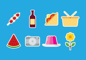 Pictogram picnic sticker