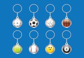 Sleutelhanger Ball vector