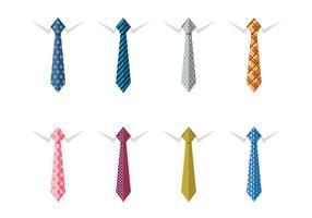 Mannelijke zakelijke zijden nekbanden vector