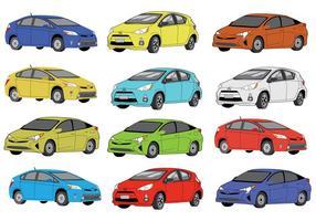Gratis Prius Color Icons vector