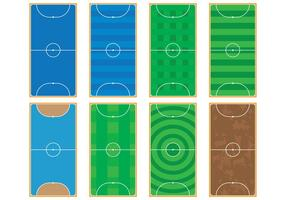 Futsal rechtbanken vector
