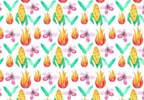 Gratis Vector Junina Corn Achtergrond