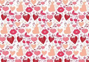Gratis Vector Love Doodle Achtergrond