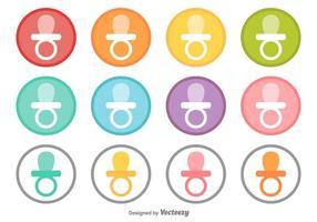 Vector Collectie Van Knoppen Met Een Dummy's Pictogram Van De Baby