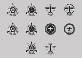 Biplane logo icoon set