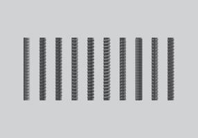 Rebar realist icon set vector