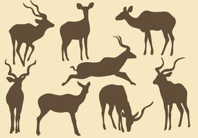 Kudu Silhouetten vector