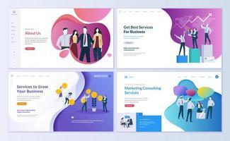 webpaginasjablonen voor zaken, financiën, marketing vector