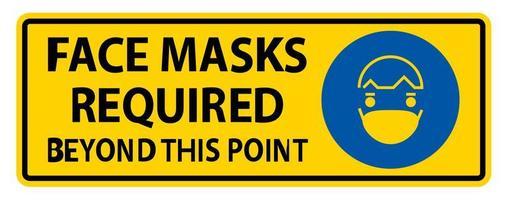 gezichtsmaskers vereist na dit punt