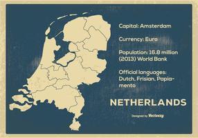 Vintage Nederlandskaarten vector