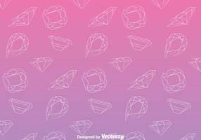 Lijn juwelen patroon vector