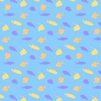 vis silhouet patroon achtergrond