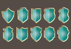 Blason schild iconen vector