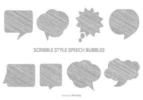 Schetsmatige spraakbellen vector
