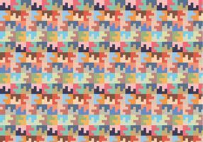 Pastel Square Willekeurig Patroon vector