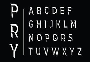 Gebogen Vector Lettertype