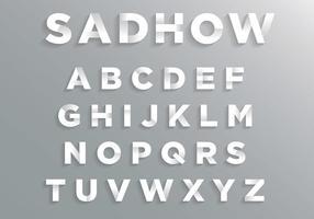 Lettertype met zachte schaduw