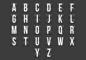 Flip klok alfabet vector