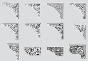 Scrollwork hoeken vector