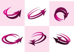 Roze Flechas Vector