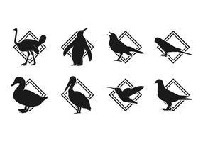 Gratis Vogel Silhoutte Logo Vector