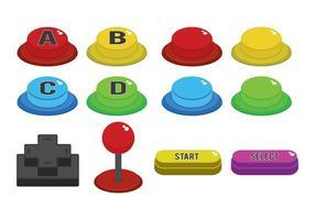 Arcade knop vector