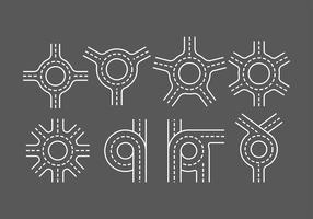 Roundabout iconen vector