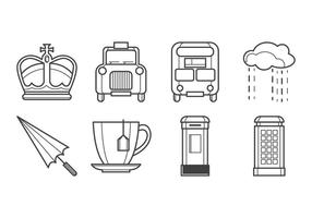 Gratis Britse Icon Vector Pack