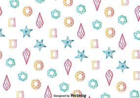 Kleurrijke Gems Patroon Achtergrond vector