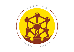 Atomium Monument Illustratie vector