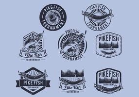 Pike Toernooi Badge vector