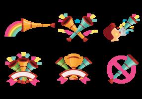 Vrolijke Vuvuzela-vectoren vector