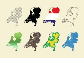 Nederlandskaart vector