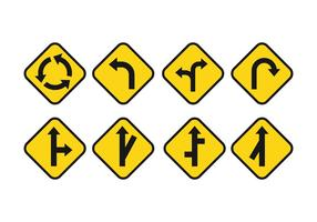 Gratis Road Signs Vector Set
