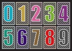Laser gesneden getallen vector