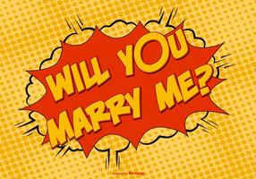 Comic Style Marry Me Illustratie