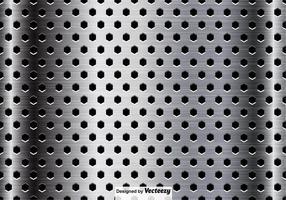 Metallic Oppervlakte Close-up Achtergrond vector