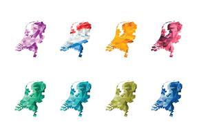 Gratis Abstract Nederland Kaart Vector