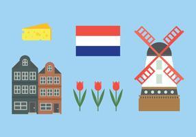 Elementen uit Holland vector