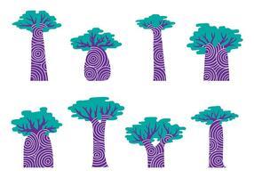 Baobab Oude Vector