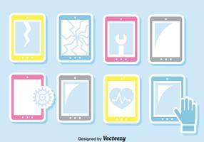 Smartphone reparatie vector set