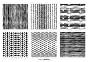 Hand getekende naadloze vector patronen