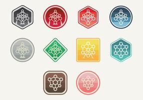 Atomium icoon vector
