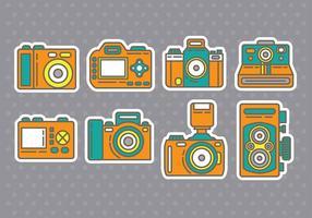 Camera iconen vector