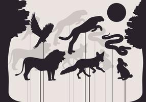 Vector illustratie van schaduwpoppen