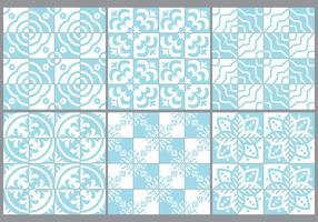 Blauwe Portugese Tegels vector